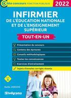 Couverture du livre « Infirmier de leducation nationale et de l'enseignement supérieur (édition 2022) » de Badia Jabrane aux éditions Studyrama