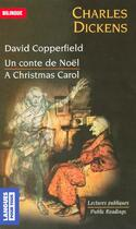 Couverture du livre « David Copperfield ; un chant de Noël ; David Copperfield ; a Christmas carol » de Charles Dickens aux éditions Langues Pour Tous