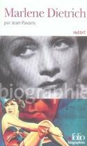 Couverture du livre « Marlène dietrich » de Jean Pavans aux éditions Gallimard