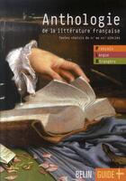 Couverture du livre « Anthologie de la littérature française » de Jean-Louis Boursin aux éditions Belin