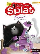 Couverture du livre « Je lis avec Splat ; on joue ? niveau 1 » de Rob Scotton aux éditions Nathan
