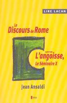 Couverture du livre « Lire lacan - le discours de rome » de Jean Ansaldi aux éditions Matrice