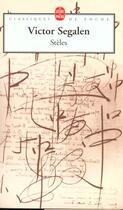 Couverture du livre « Steles » de Victor Segalen aux éditions Lgf