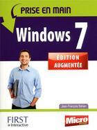 Couverture du livre « Prise en main Windows 7 » de Jean-Francois Sehan aux éditions First Interactive