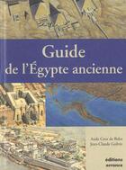 Couverture du livre « Guide de l'egypte ancienne » de Jean-Claude Golvin aux éditions Errance