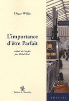 Couverture du livre « L'importance d'être parfait » de Borel Michel aux éditions L'amandier
