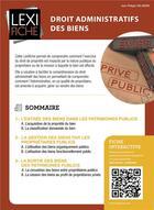 Couverture du livre « Droit administratif des biens » de Jean-Philippe Orlandini aux éditions Enrick B.