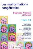 Couverture du livre « Les malformations congénitales, diagnostic anténatal et devenir t.10 » de Alain Couture et Olivier Prodhomme aux éditions Sauramps Medical