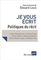 Couverture du livre « Je vous écrit » de Edouard Louis aux éditions Puf