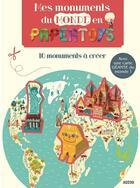 Couverture du livre « Papertoys géants ; mes monuments du monde en papertoys » de Rozenn Bothuon aux éditions Philippe Auzou