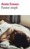 Couverture du livre « Passion simple » de Annie Ernaux aux éditions Gallimard
