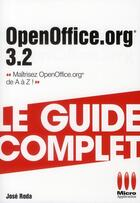 Couverture du livre « OpenOffice 3.2 » de Jose Roda aux éditions Micro Application