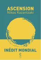 Couverture du livre « L'ascension » de Nikos Kazantzakis aux éditions Cambourakis