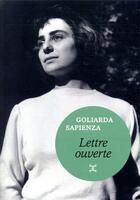 Couverture du livre « Lettre ouverte » de Goliarda Sapienza aux éditions Le Tripode