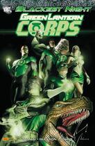 Couverture du livre « Blackest night ; green latern corps » de Patrick Gleason et Peter J. Tomasi et Geoff Johns aux éditions Panini
