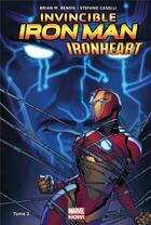 Couverture du livre « The invincible Iron Man - Ironheart T.2 » de Stefano Caselli et Brian Michael Bendis aux éditions Panini