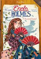 Couverture du livre « Les enquêtes d'Enola Holmes T.4 ; le secret de l'éventail » de Serena Blasco aux éditions Jungle