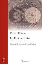 Couverture du livre « Le Fini et l'Infini » de David Konig aux éditions Cerf