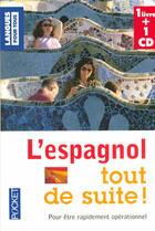 Couverture du livre « Coffret l'espagnol tout de suite » de Christian Regnier aux éditions Pocket