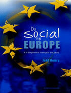 Couverture du livre « Social En Europe (Du) » de Henry Joel aux éditions Cheminements