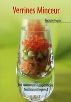Couverture du livre « Verrines minceur » de Nathalie Vogtlin aux éditions First