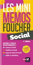 Couverture du livre « Les mini mémos Foucher T.1 ; social (4e édition) » de Collectif aux éditions Foucher
