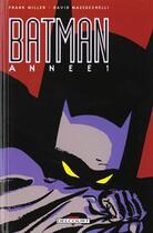 Couverture du livre « Batman ; année 1 » de David Mazzucchelli et Frank Miller aux éditions Delcourt