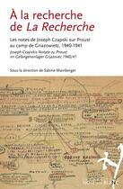 Couverture du livre « À la recherche de la recherche » de Collectif et Sabine Mainberger aux éditions Noir Sur Blanc