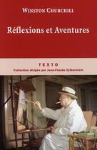 Couverture du livre « Réflexions et aventures » de Winston Churchill aux éditions Tallandier