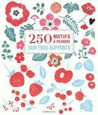 Couverture du livre « 250 motifs a peindre sur tous supports » de Collectif aux éditions De Saxe