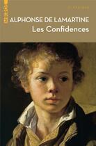 Couverture du livre « Les confidences » de Alphonse De Lamartine aux éditions Editions De L'aube