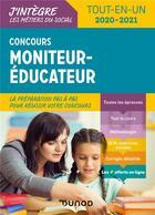 Couverture du livre « Concours moniteur éducateur ; tout-en-un (édition 2020/2021) » de Beatrice Peluau et Valerie Le Du aux éditions Dunod