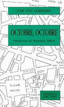 Couverture du livre « Octobre, octobre » de Sampedro/Millon aux éditions Corti