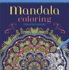 Couverture du livre « Mandala coloring » de Collectif aux éditions Chantecler