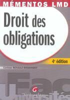 Couverture du livre « Droit des obligations (4e édition) » de Renault-Brahinski Co aux éditions Gualino