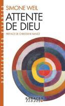 Couverture du livre « Attente de Dieu » de Simone Weil aux éditions Albin Michel