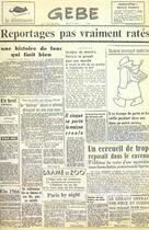 Couverture du livre « Reportages pas vraiment ratés » de Gebe aux éditions Le Dilettante