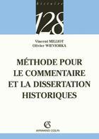 Couverture du livre « Methode Commentaire Historique » de Collectif aux éditions Armand Colin
