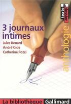 Couverture du livre « 3 journaux intimes » de Jules Renard et Andre Gide et Catherine Pozzi aux éditions Gallimard