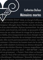Couverture du livre « Mémoires mortes » de Catherine Dufour aux éditions Le Belial