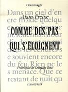 Couverture du livre « Comme des pas qui s'éloignent » de Alain Freixe aux éditions L'amourier