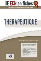 Couverture du livre « UECN EN FICHES ; thérapeutique » de Benoit Allignet et Floriane Izarn aux éditions Vernazobres Grego