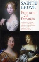 Couverture du livre « Portraits de femmes » de Charles-Augustin Sainte-Beuve aux éditions France-empire