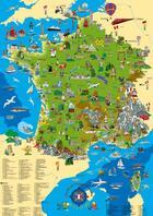 Couverture du livre « La Carte De France Illustree 100 X 70 Cm » de Collectif aux éditions Kruger & Schonhoff
