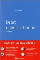 Couverture du livre « Droit constitutionnel (3e édition) » de Olivier Gohin aux éditions Lexisnexis