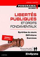 Couverture du livre « Libertés publiques et droits fondamentaux (3e édition) » de Bertrand Pauvert et Xavier Latour aux éditions Studyrama