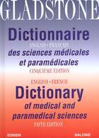 Couverture du livre « Dictionnaire anglais-francais des sciences medicales et paramedicales 5eme edit » de Gladstone aux éditions Edisem