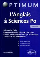 Couverture du livre « L'anglais à Sciences Po (6e édition) » de Fabien Fichaux aux éditions Ellipses