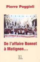 Couverture du livre « Affaire Bonnet A Matignon (De L') » de Pierre Poggioli aux éditions Dcl