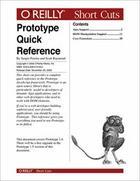 Couverture du livre « Prototype Quick Reference » de Raymond Scott aux éditions O Reilly